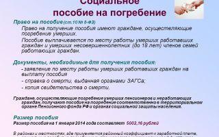 Какие выплаты (компенсация) положены при смерти пенсионера