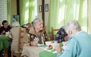 Меню в домах престарелых и домах интернатах